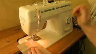 Учимся шить на швейной машинке  Прямая строчка, зигзаг, петля под пуговицу
