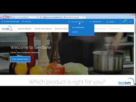 Take An Online Exam - ServSafe.com
