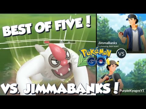 BEST OF FIVE VS. JIMMABANKS! Pokemon GO PvP Jungle Cup Great League Matches