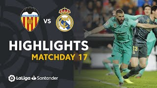 Highlights Valencia CF vs Real Madrid (1-1)