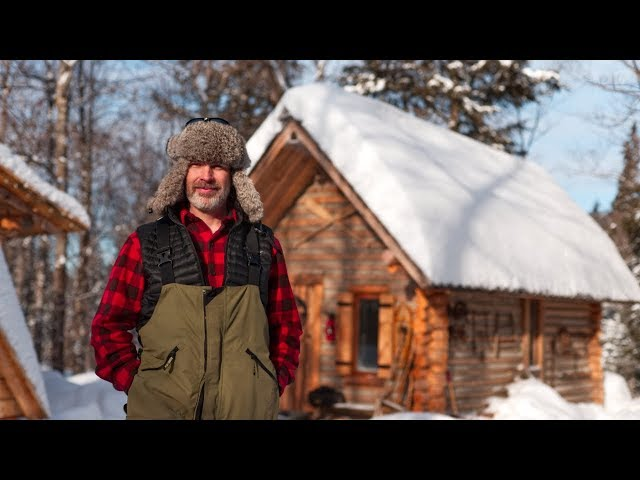 The Reality of Living in the Canadian Wilderness in Winter | Building a Sauna with Hand Tools