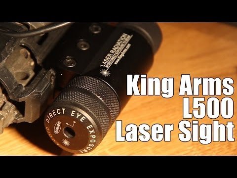 AIRSOFT | REVIEW | TBC | King Arms L500 Tactical RIS Laser Sight With Remote ( ENGLISH SUBS )