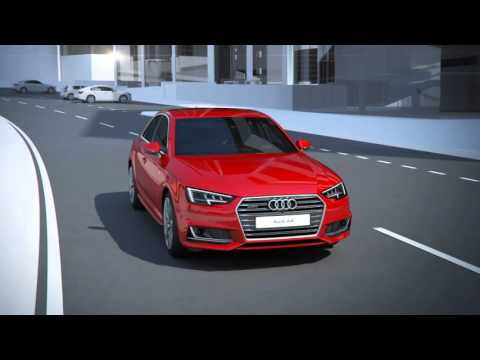 Audi A4 Exit warning system Animation