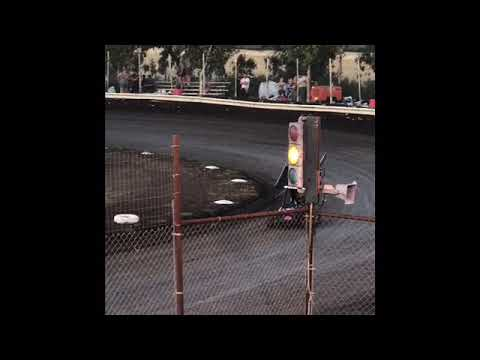 Heat Race - Samuel raced his 250 cc Outlaw Cage Kart at Cycleland Speedway in Oroville, CA. - dirt track racing video image