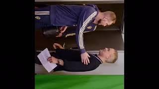 Svenska landslaget spelar in reklamfilm (prank)