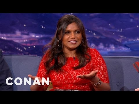 Mindy Kaling Has A Lot To Learn About Kissing Co-Stars - CONAN On TBS