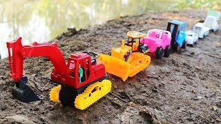 Learning Colors With Car Toy ,Helicopter - Construction Vehicles Colors For Children
