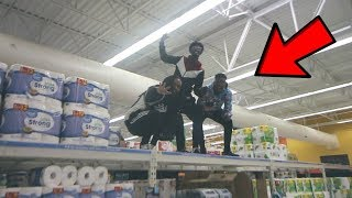 THE ULTIMATE TRYING TO GET KICKED OUT OF WALMART CHALLENGE !!!