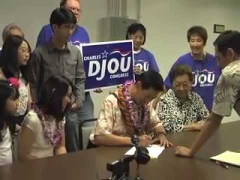 Republican Charles Djou files nomination papers for congress seat