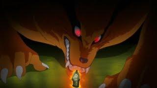 ناروتو يوقف الكيوبي لكي لا يقتل اوتشيها شين، عودة الفريق السابع للمعركة، تفاجئ ساردا بقوة ناروتو