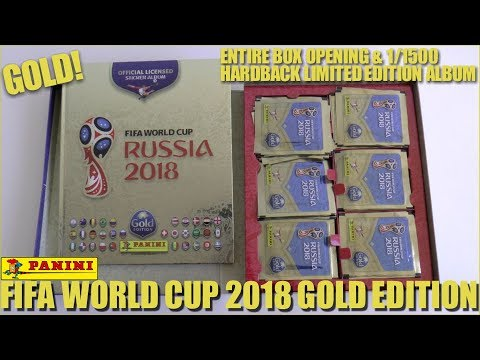 ⚽ GOLD EDITION ALBUM & 100 PACKS !! | Panini FIFA World Cup 2018 Sticker Collection | GIFTBOX ⚽