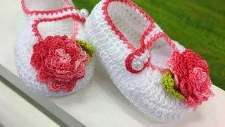 Teruko Kato – Sapatinho Flor em Crochê