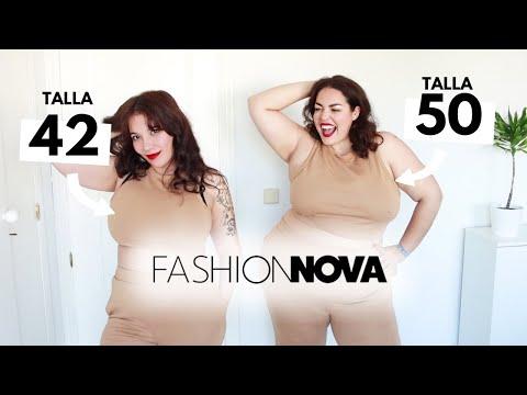 TALLA 42 VS TALLA 50 Misma ropa Fashion Nova Curve   Invierno 2021   Pretty and Olé