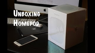 Unboxing HomePod Apple Cz