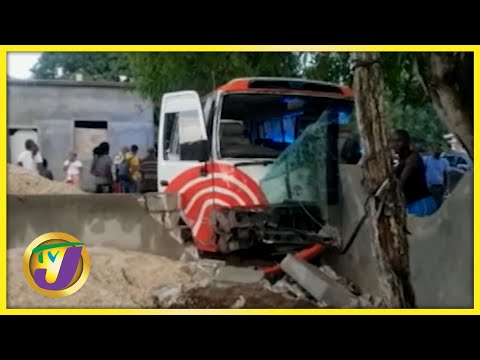 7 Injured in Crash Along Lacovia Main Road in Jamaica   TVJ News - August 10 2021