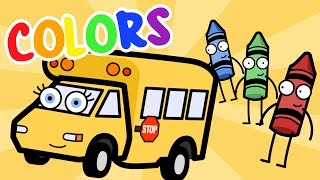 Learning Colors Song With Betsy the School Bus - Baby, Toddler, Kindergarten Kids Learning Videos