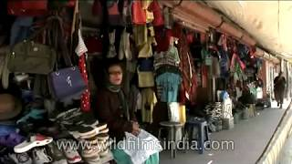 Street shops in Ladakh selling all kinds of goods