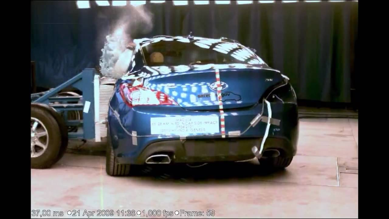 2010 Hyundai Genesis Coupe NCAP Side Impact New NHTSA