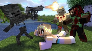 Monster School : ZOMBIE APOCALYPSE NOOB vs PRO challenge - Minecraft Animation
