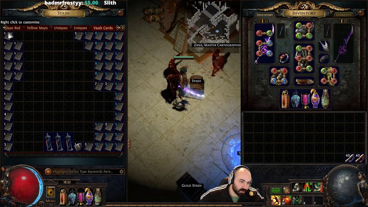 path of exile 100 vault map runs results youtube