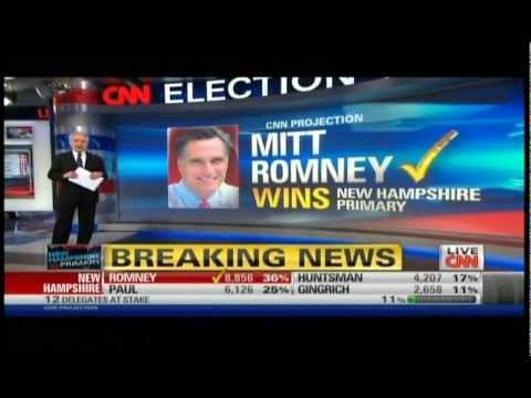 CNN 2012 New Hampshire Republican Primary Coverage Part 4