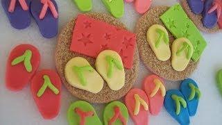 How To Make Gumpaste Flip Flop Cupcake Toppers