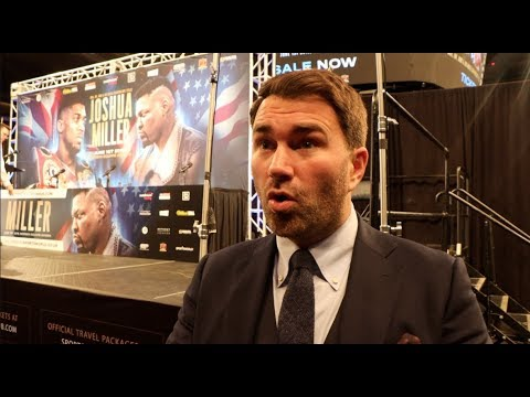 EDDIE HEARN RAW IN NEW YORK! -ON JOSHUA-MILLER / FURY ESPN DEAL / WHYTE / WILDER COMMENTS / SAUNDERS