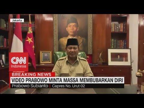 Prabowo Minta Massa Membubarkan Diri