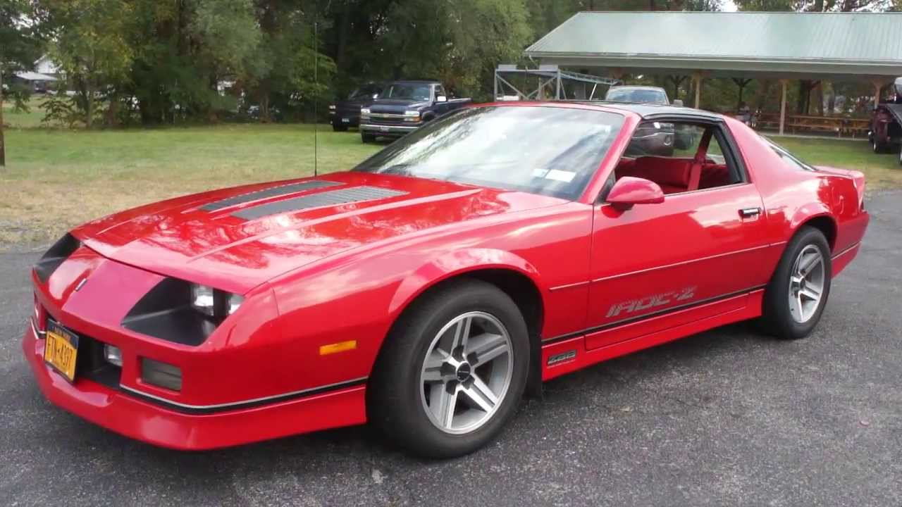 SOLD~1987 Chevrolet Camaro IROC For Sale~2 Family Owners~Red/Red~T ...