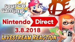 Nintendo Direct 3.8.2018  -- Livestream Reaction
