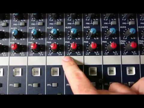 Mesa de mezclas - GRUPOS DE AUDIO y PANORAMIZACIÓN - ¿Qué significa PAN 1/3 y PAN 2/4?