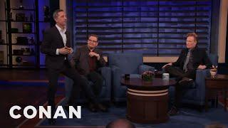 Gad Elmaleh's Involuntary Leg Move - CONAN on TBS