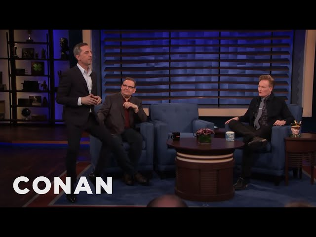 Gad Elmaleh's Involuntary Leg Move - CONAN on TBS