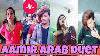 Aamir Arab musically duet | tik tok duet | new musically Aamir Arab | girl duet musically |