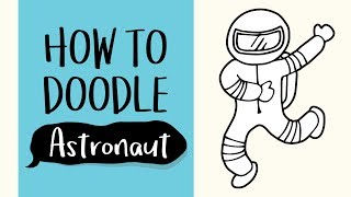 How to Draw an Astronaut (Easy Step by Step Drawing and Coloring Tutorial For Kids)