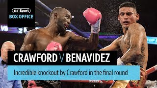 Terence Crawford v Jose Benavidez official highlights and knockout
