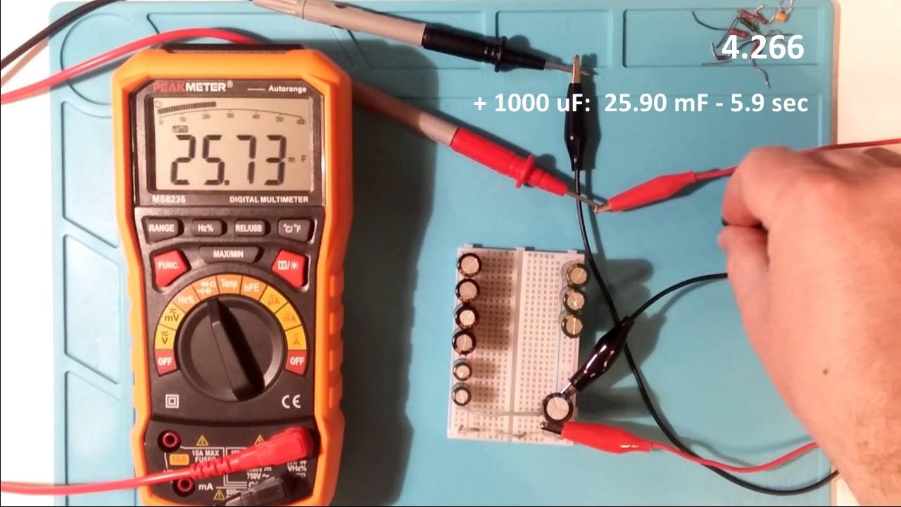 HYELEC MS8236 Auto Range Digital Multimeter with AC//DC Amp Volt Resistance Capac