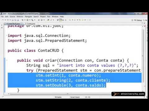 Universidade XTI   JAVA   112   JDBC CRUD  Create  Read  Update e Delete