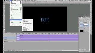 Photoshop  Animation Tutorial / Letter Reflection