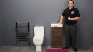 Small Toilet & Walnut Vanity Unit Bathroom Furniture for Small Bathrooms