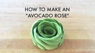 Fun Tip: How to Make an Avocado Rose