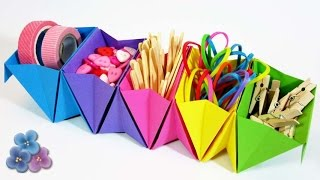 Origami: How to make a Paper Organizer Mathie