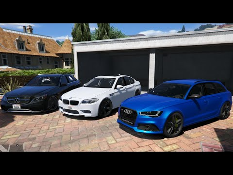 gta v | audi rs6 c7 vs. bmw m5 f10 vs. mercedes e63 amg w212 | gta