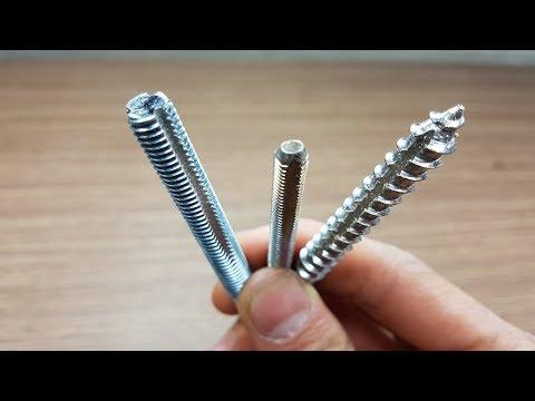 DIY Making wood thread taps