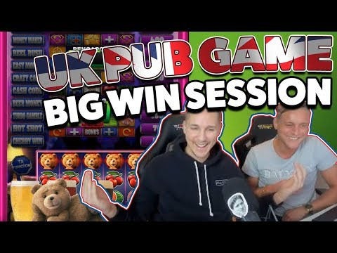 Ted Pub Fruit Slot Session - UK Pub game - BIG WINS on NEW game from Blueprint - 동영상