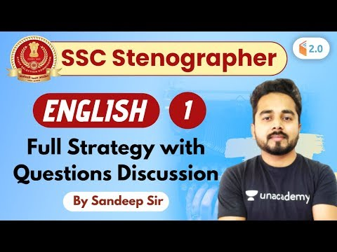 7:00 PM - SSC Steno 2019 | English By Sandeep Sir | Full Strategy With Questions Discussion