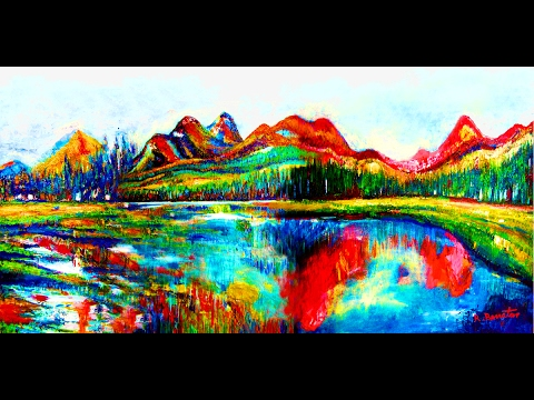 Landscape Paintings New Impressionist Contemporary Masterpieces Mosaic Nature Acrylic Oil by Rami Be
