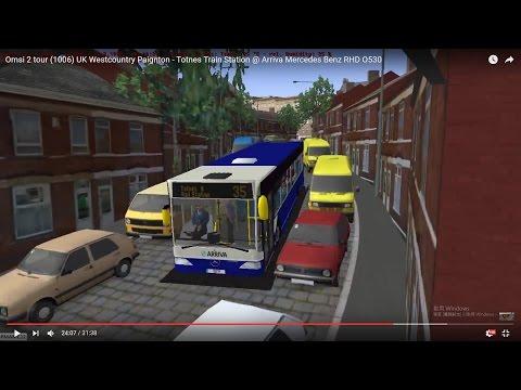 Omsi 2 tour (1006) UK Westcountry 35 Paignton - Totnes Train Station @ Arriva Mercedes Benz RHD O530