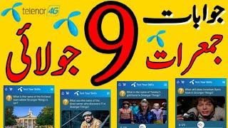 9 July 2020 | 9 Jul Questions and Answers | My Telenor TODAY Question | Telenor App Today Quiz