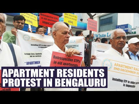 Bengaluru Apartment residents conduct peaceful protest against STP law | Oneindia News
